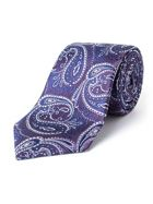 Paul Costelloe Elms Elongated Paisley Silk Tie