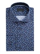 Men's Baumler Wolfram Circle Print Cotton Shirt