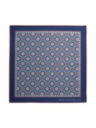 Paul Costelloe Bray Retro Motif Pocket Square