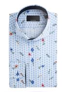 Men's Baumler Luther Leaf Print Cotton Shirt