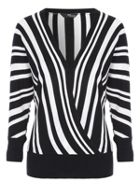 Jane Norman Stripe Wrap Jumper