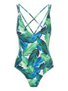 Jane Norman Leaf Print Ladder Swimsuit