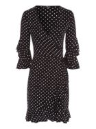 Jane Norman Spot Frill Wrap Dress