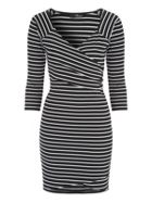 Jane Norman Stripe Wrap Dress