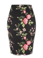 Jane Norman Floral Mesh Embroidered Skirt