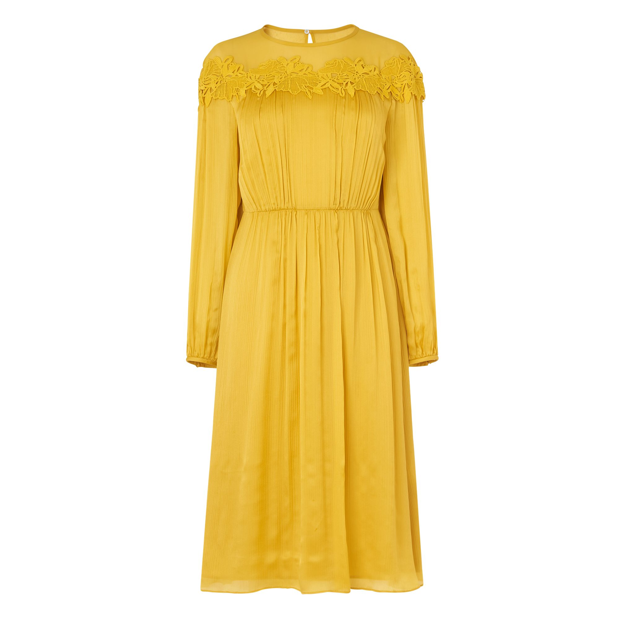 L.K.Bennett Isabel Silk Dress, Yellow