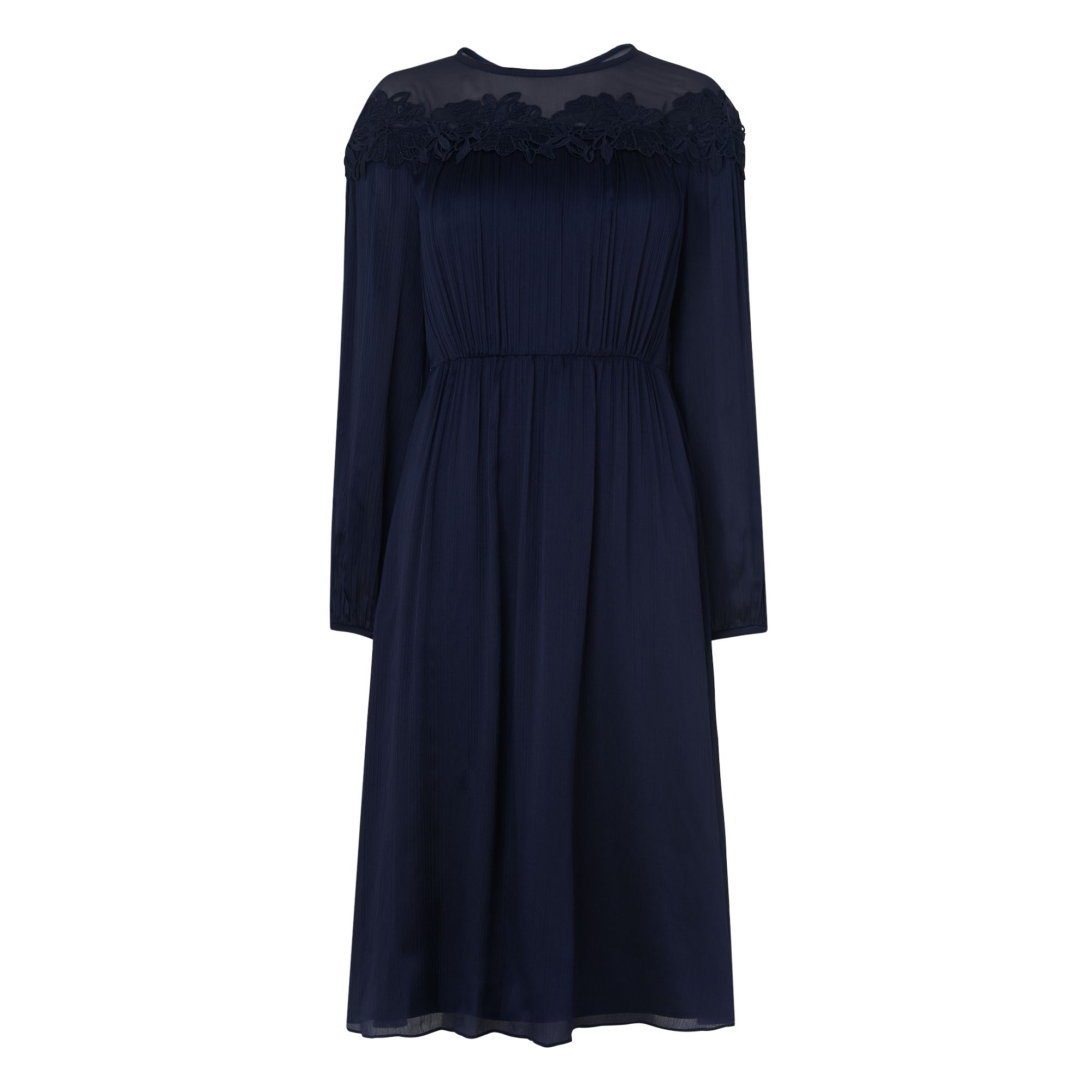 L.K.Bennett Isabel Silk Dress, Blue