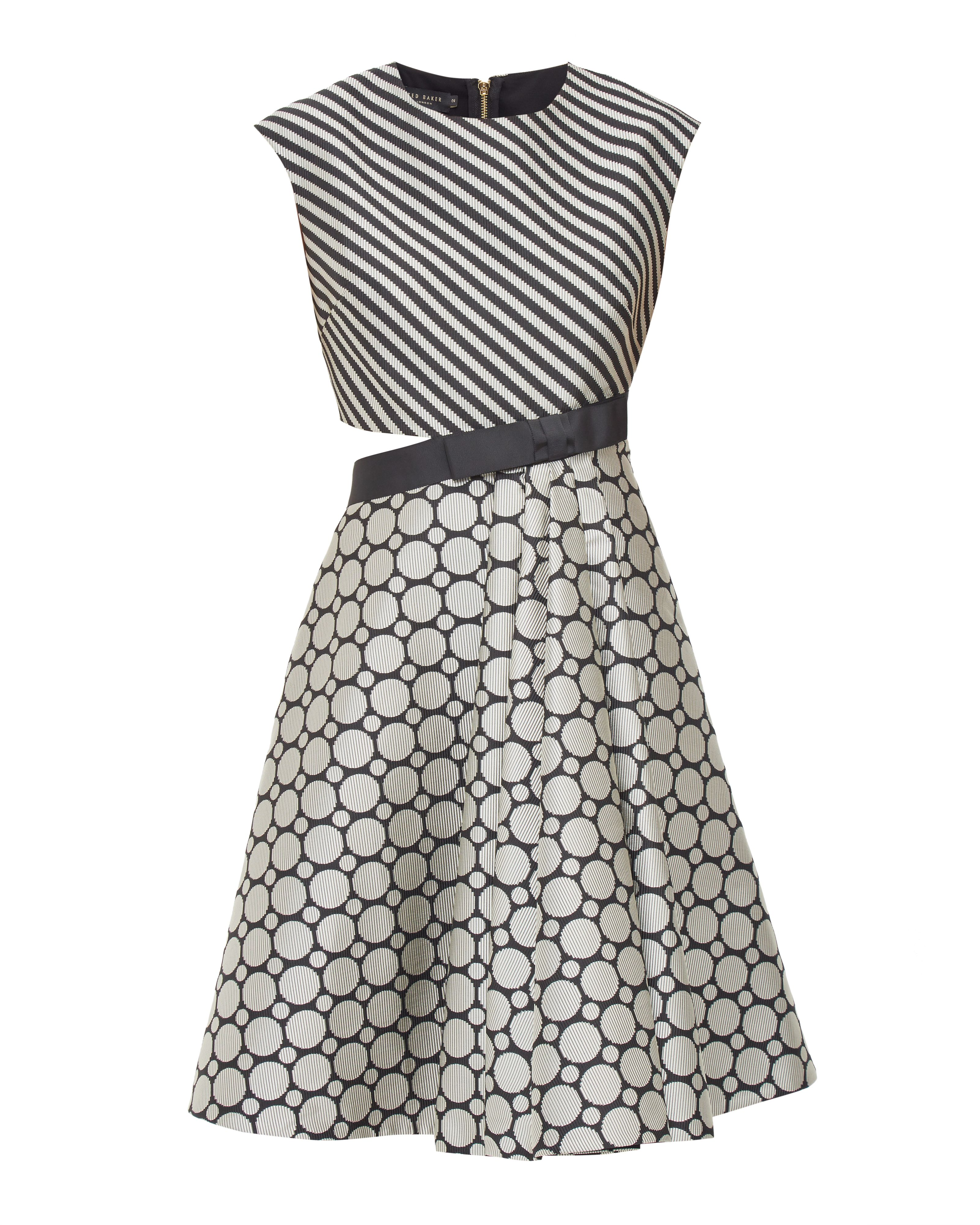 Black dress house of fraser - Ted Baker Reetah Stripe And Circle Cut Out Dress