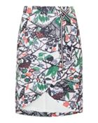 Ted Baker Lexan Floral print crossover front skirt