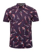 Men's Ted Baker Bigpois Oversized Fish Print Shirt