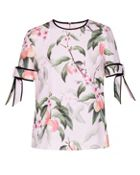 Ted Baker Cathe Peach Blossom Bow Sleeve Top