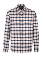 Men's Gibson Navy And Burgundy Long Sleeved Shirt