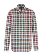 Men's Gibson Brown and Red Check Shirt