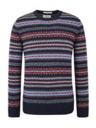 Men's Racing Green Douglas V Neck Fairisle Jumper