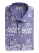Men's Alexandre of England Navy Floral Jacquard Shirt
