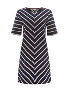 Chevron Stripe Tunic Dress