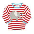 Toby Tiger Babies elly applique t-shirt