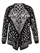 Chesca BlackIvory Jacquard Knitted Cardigan