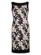Chesca Floral Print Fancy Jersey Dress