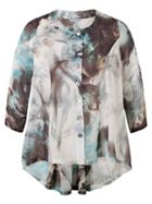 Chesca Abstract Smoke Print Tunic