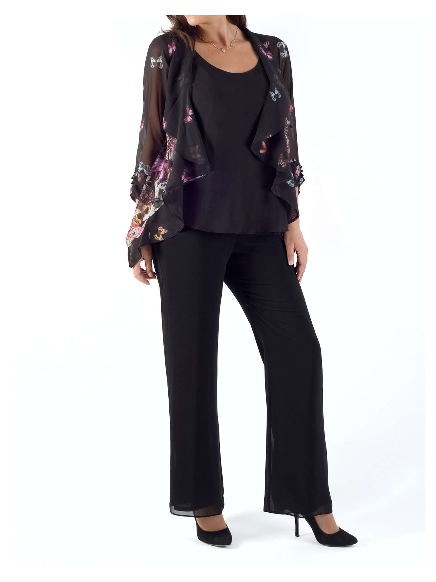 Butterfly Print Chesca Butterfly Chesca Shrug Border ESq10S