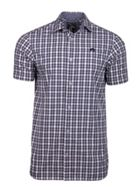Men's Raging Bull Short Sleeve Linen Look Check