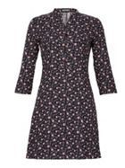 Miss Truth Button Front Shirt Dress