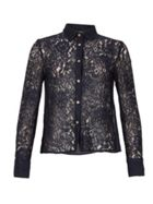 MISSTRUTH Long Sleeve Lace Shirt