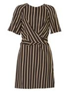 MISSTRUTH Stripe Tie Front Dress