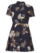 MISSTRUTH Floral Print Shirt Dress