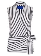Cotton Jersey Striped Wrap Top