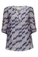 Brush Stroke Silk Blouse