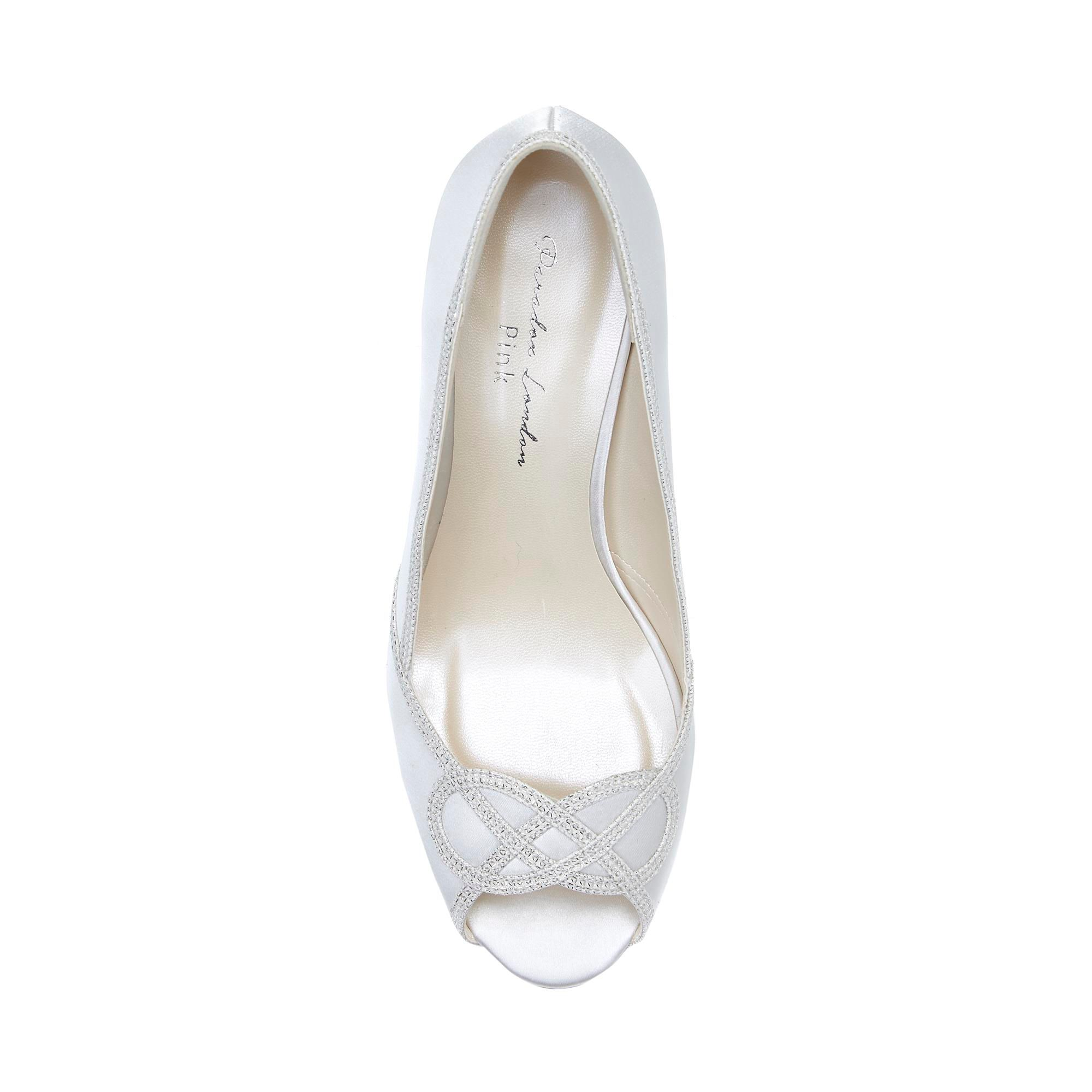 9f8874437a2 paradox london pink carenza satin mid heel peep toe shoes - house of fraser