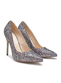 003669cd56a992 ... Paradox London Pink Cosmic Glitter High Heel Court Shoes