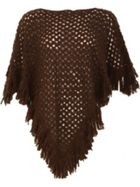 David Barry Ladies Italian Poncho