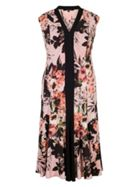Chesca Rose Print Jersey Dress