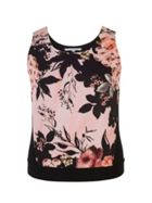 Chesca Rose Print Jersey Camisole