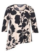 Chesca Floral Print Jersey Tunic