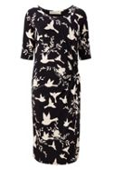 Sugarhill Boutique JENNA BIRD TWIST JERSEY DRESS