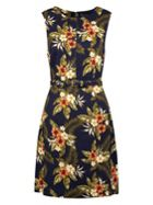 Sugarhill Boutique Regina Palm Print A-Line Dress