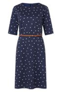 Sugarhill Boutique Alysia Cat Polka A-Line Dress