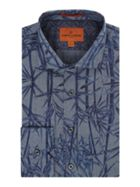 Men's Simon Carter Chambray Bamboo Print Harrison Shirt