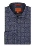 Men's Simon Carter Chambray Tile Print Harrison Shirt