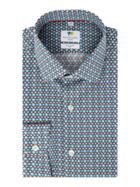 Men's Richard James Mayfair Hexagon Tile Print Slim
