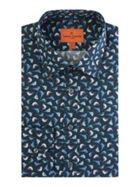 Men's Simon Carter Blue Tit Print Shirt