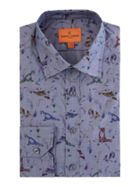 Men's Simon Carter Chambray Wildlife Print Shirt