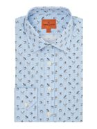 Men's Simon Carter Pinstripe Bird Print Shirt
