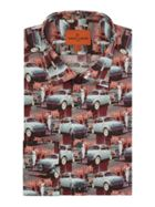 Men's Simon Carter Vintage Car Print Shirt