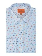 Men's Simon Carter Multi Bird Stripe Print Shirt