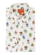 Men's Simon Carter Animals In Helmets Print Shirt